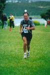 Barry winning his age grade at the 2002 City Of Wellington half marathon